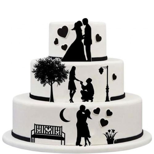 Kuchen-Tortentattoo-Hochzeit-Torte