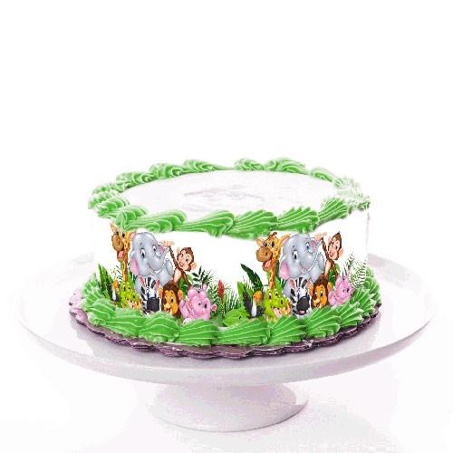 Tortenband_Zootiere_zoo_tiere_tortenbild_animals