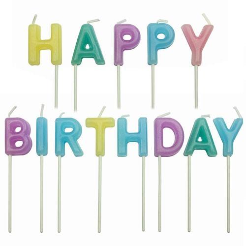 ME Geburtstagskerzen Set Happy birthday candle pastel