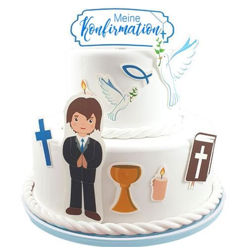 Kuchen-Tortentattoo-Konfirmation-Junge-Torte
