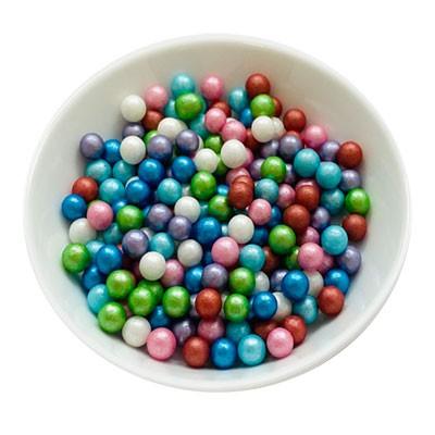Zuckerperlen 7mm - Regenbogen - Mix - 50g
