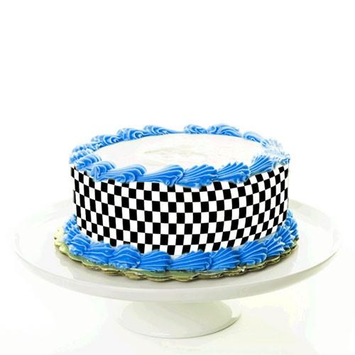 Tortenband_CheckeredFlag_Autorennen_motorsport_fototorte