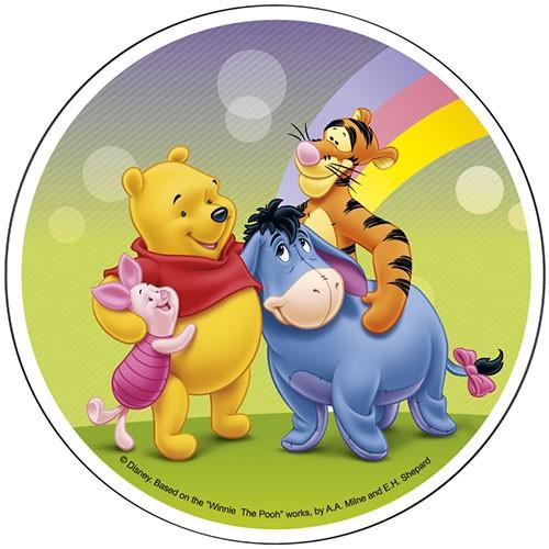 Tortenaufleger Winnie Pooh mit Ferkel, Tigger und Iaah aus Waferpaper