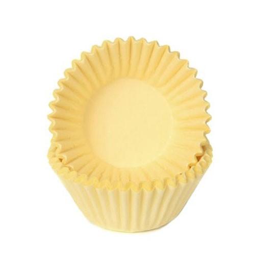 Schokoladen Baking Cups - Papierförmchen - Gelb