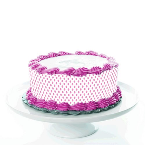 Tortenband_Puenktchen-rosa-pink-Fototorte