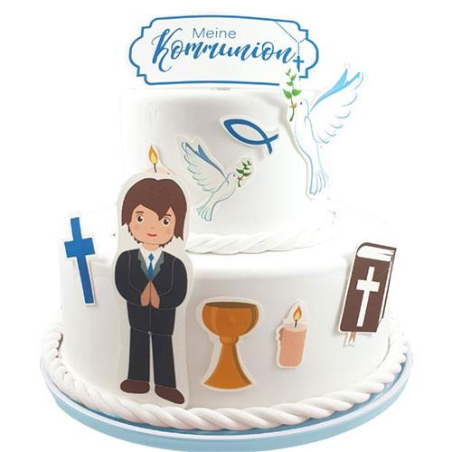 Kuchen-Tortentattoo-Kommunion-Junge-Torte