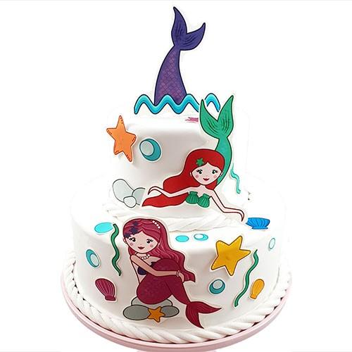 Kuchen-Tortentattoo-Meerjungfrau-Torte