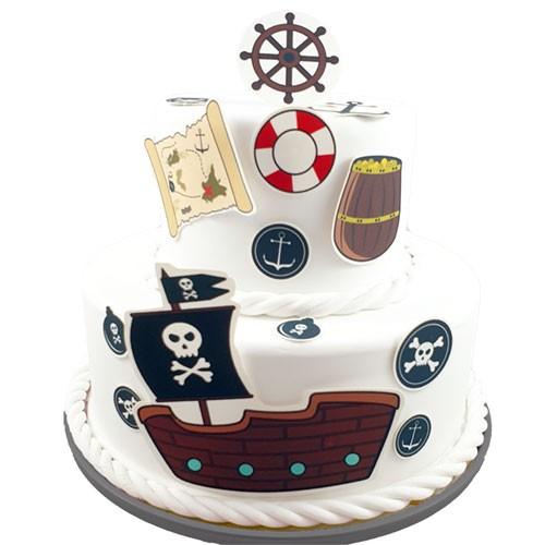 Kuchen-Tortentattoo-Pirat-Torte