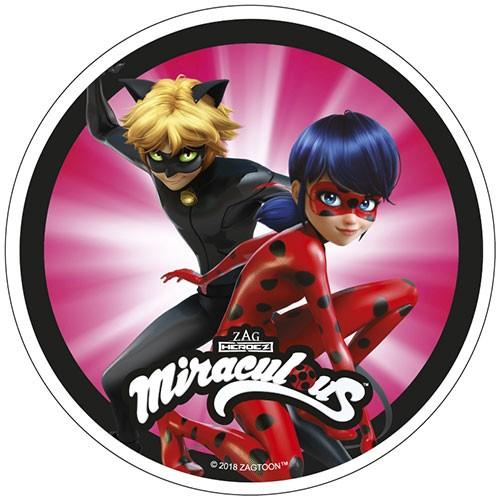42022_2 Tortenaufleger Oblatenpapier Miraculous Ladybug & Cat Noir