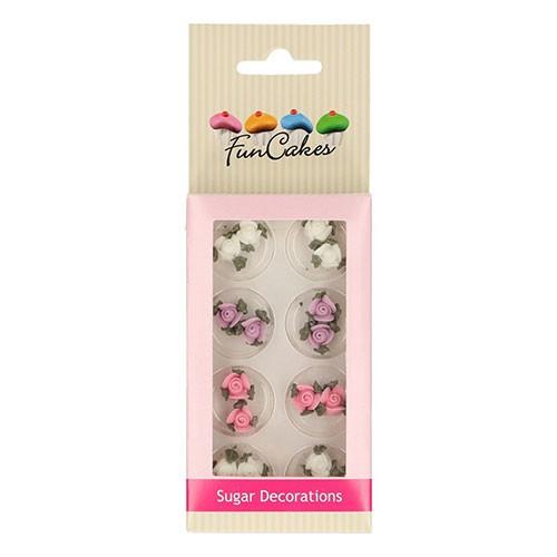FunCakes - Zuckerdekoration - Kleine Rosen mit Blättern