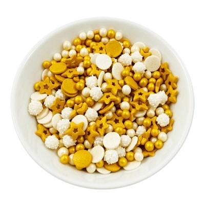 uckerstreuselmischung-Gold-Mix