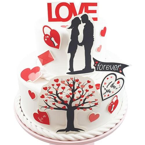 Kuchen-Tortentattoo-Torte-Liebe