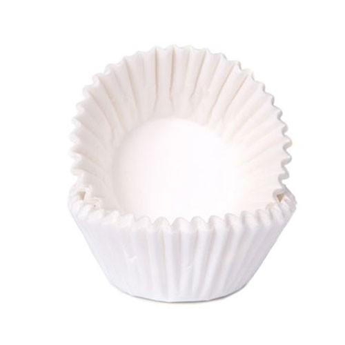 Schokoladen Baking Cups - Papierförmchen - Weiß